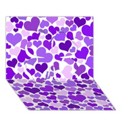 Heart 2014 0927 Clover 3d Greeting Card (7x5)  by JAMFoto