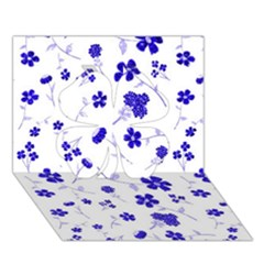 Sweet Shiny Flora Blue Clover 3d Greeting Card (7x5)