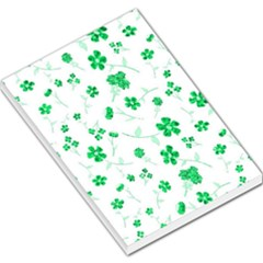 Sweet Shiny Floral Green Large Memo Pads by ImpressiveMoments
