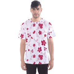 Sweet Shiny Floral Red Men s Sport Mesh Tees by ImpressiveMoments