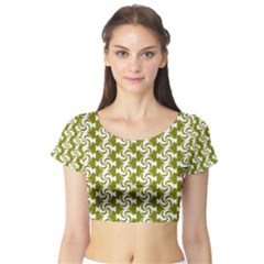 Candy Illustration Pattern Short Sleeve Crop Top