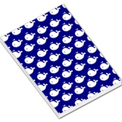Cute Whale Illustration Pattern Large Memo Pads by creativemom