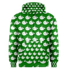 Cute Whale Illustration Pattern Men s Zipper Hoodies by creativemom