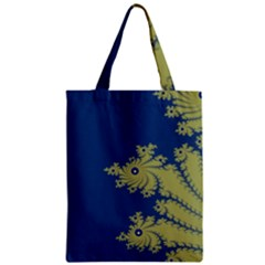 Blue And Green Design Classic Tote Bags
