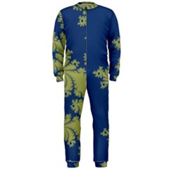 Blue And Green Design Onepiece Jumpsuit (men)