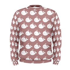 Cute Whale Illustration Pattern Men s Sweatshirts by creativemom