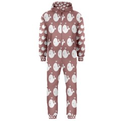 Cute Whale Illustration Pattern Hooded Jumpsuit (men)  by creativemom