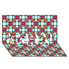 Cute Pattern Gifts SORRY 3D Greeting Card (8x4)