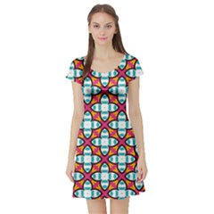 Cute Pattern Gifts Short Sleeve Skater Dresses