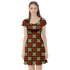 Cute Pattern Gifts Short Sleeve Skater Dresses by creativemom