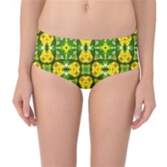 Cute Pattern Gifts Mid-waist Bikini Bottoms by creativemom
