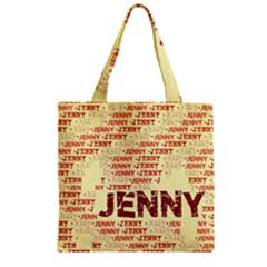 Jenny Zipper Grocery Tote Bags by MoreColorsinLife