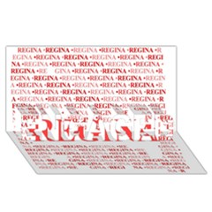 Regina Engaged 3d Greeting Card (8x4)