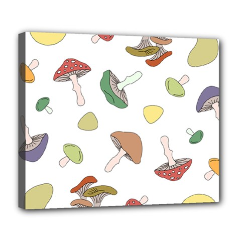 Mushrooms Pattern 02 Deluxe Canvas 24  X 20   by Famous