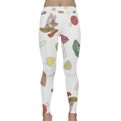 Mushrooms Pattern 02 Yoga Leggings by Famous
