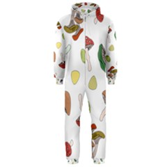 Mushrooms Pattern 02 Hooded Jumpsuit (men)  by Famous