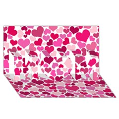 Heart 2014 0933 Mom 3d Greeting Card (8x4)