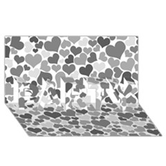 Heart 2014 0936 Party 3d Greeting Card (8x4)  by JAMFoto