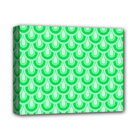 Awesome Retro Pattern Green Deluxe Canvas 14  X 11  by ImpressiveMoments