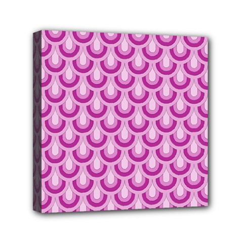 Awesome Retro Pattern Lilac Mini Canvas 6  X 6  by ImpressiveMoments