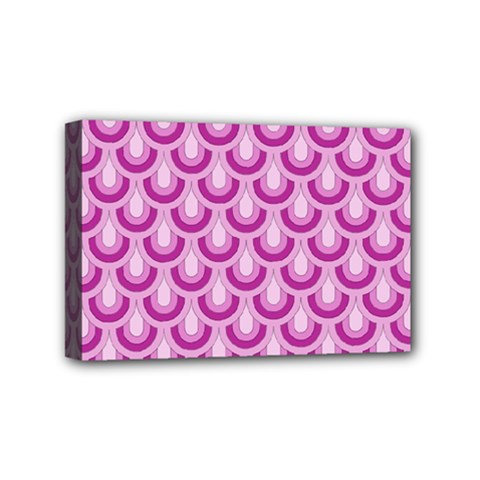 Awesome Retro Pattern Lilac Mini Canvas 6  X 4  by ImpressiveMoments