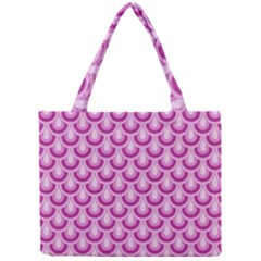 Awesome Retro Pattern Lilac Tiny Tote Bags
