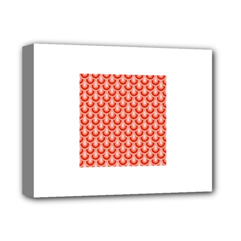 Awesome Retro Pattern Red Deluxe Canvas 14  X 11  by ImpressiveMoments
