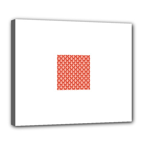 Awesome Retro Pattern Red Deluxe Canvas 24  X 20   by ImpressiveMoments