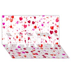 Heart 2014 0601 Party 3d Greeting Card (8x4)  by JAMFoto