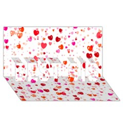 Heart 2014 0602 Best Sis 3d Greeting Card (8x4)  by JAMFoto