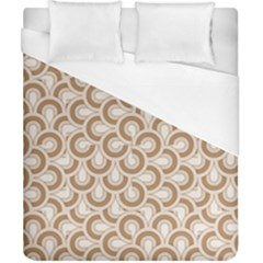 Retro Mirror Pattern Brown Duvet Cover Single Side (double Size) by ImpressiveMoments