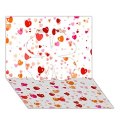 Heart 2014 0603 Clover 3d Greeting Card (7x5)  by JAMFoto