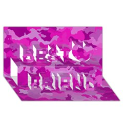 Camouflage Hot Pink Best Friends 3d Greeting Card (8x4)