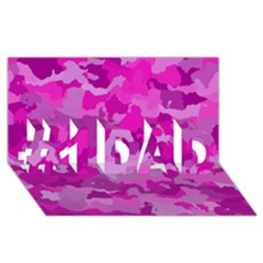 Camouflage Hot Pink #1 Dad 3d Greeting Card (8x4)  by MoreColorsinLife