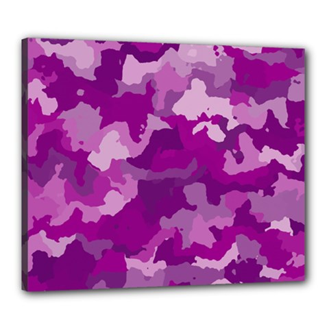 Camouflage Purple Canvas 24  X 20  by MoreColorsinLife
