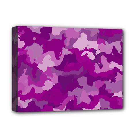 Camouflage Purple Deluxe Canvas 16  X 12   by MoreColorsinLife