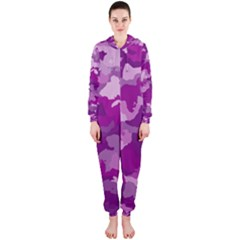 Camouflage Purple Hooded Jumpsuit (ladies)