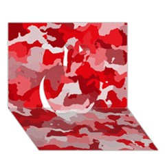 Camouflage Red Apple 3d Greeting Card (7x5)  by MoreColorsinLife