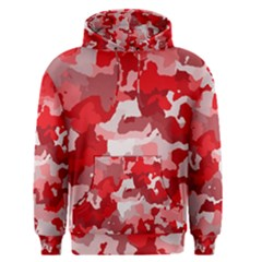 Camouflage Red Men s Pullover Hoodies by MoreColorsinLife