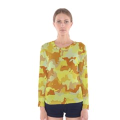 Camouflage Yellow Women s Long Sleeve T Shirts