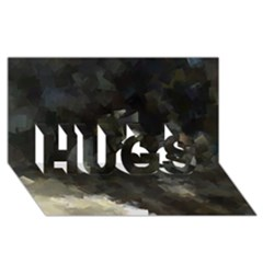Space Like No 8 Hugs 3d Greeting Card (8x4)  by timelessartoncanvas