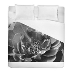 Black And White Rose Duvet Cover Single Side (twin Size) by timelessartoncanvas