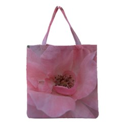 Pink Rose Grocery Tote Bags