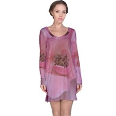 Pink Rose Long Sleeve Nightdresses