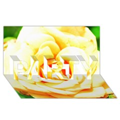 Orange Yellow Rose Party 3d Greeting Card (8x4)  by timelessartoncanvas