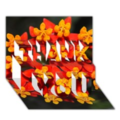 Orange And Red Weed Thank You 3d Greeting Card (7x5)  by timelessartoncanvas