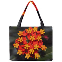 Orange And Red Weed Tiny Tote Bags