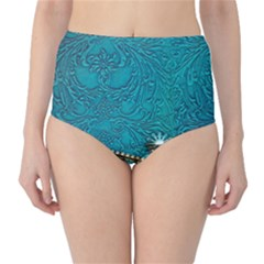 Wonderful Decorative Design With Floral Elements High-waist Bikini Bottoms by FantasyWorld7