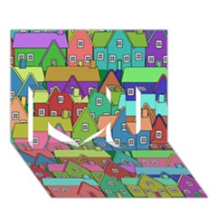 House 001 I Love You 3D Greeting Card (7x5)