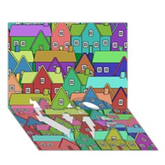 House 001 LOVE Bottom 3D Greeting Card (7x5)